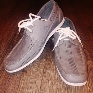 Steve Madden Size 13 Minnow Grey Mens Boat Shoes